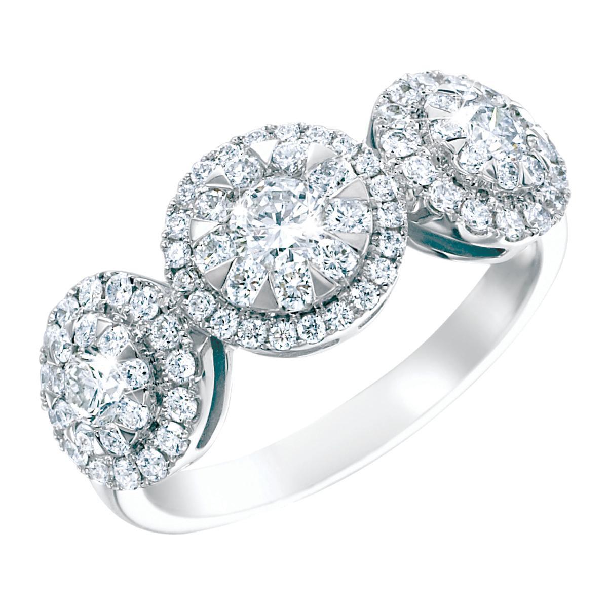 Mémoire® 1.00 CTW Diamond Engagement Halo Ring