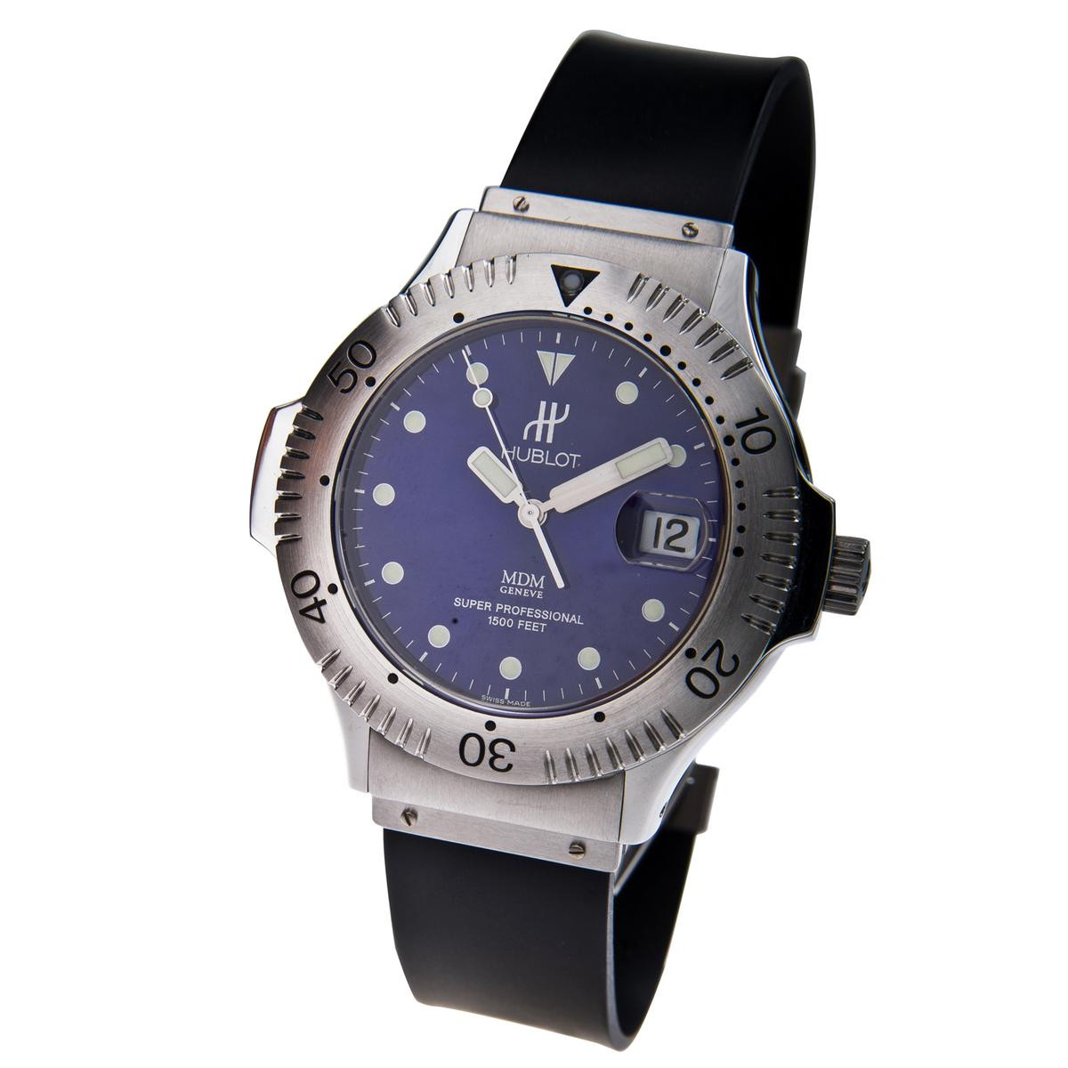 Pre-owned Hublot Super Professional 1500M with Rotating Bezel