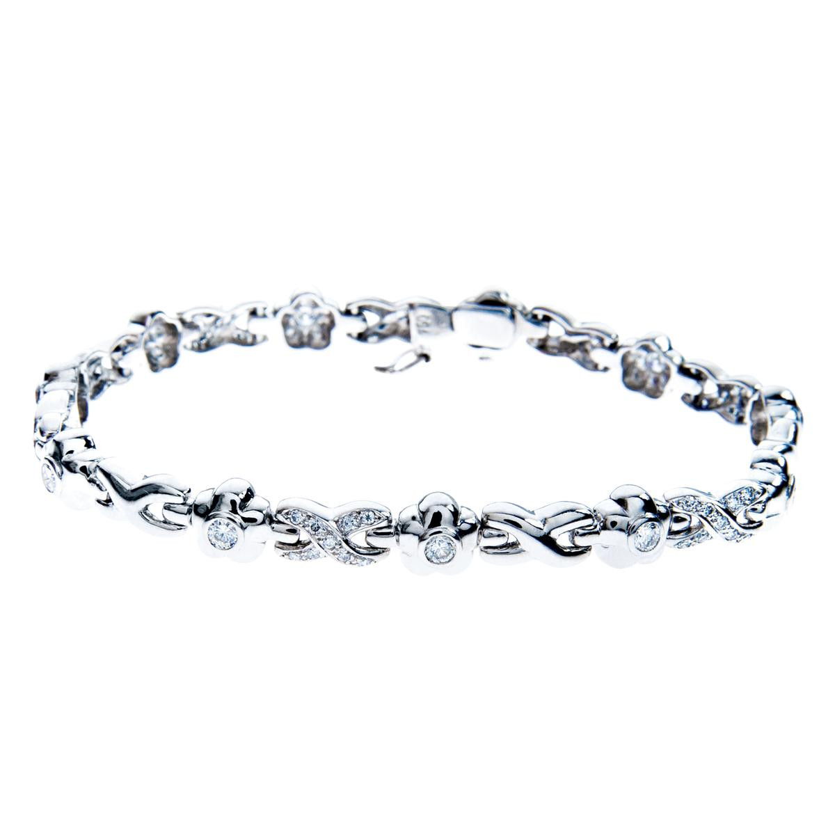 1.55 CTW Diamond Flower Bracelet