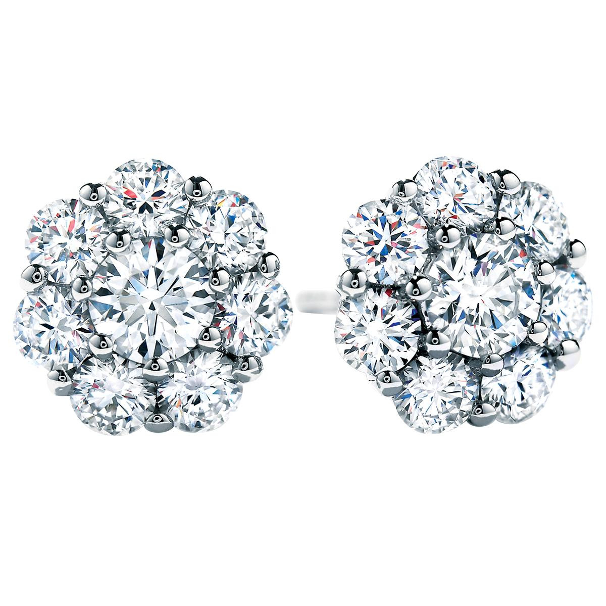 New 1.94 CTW Hearts On Fire® Beloved Diamond Stud Earrings
