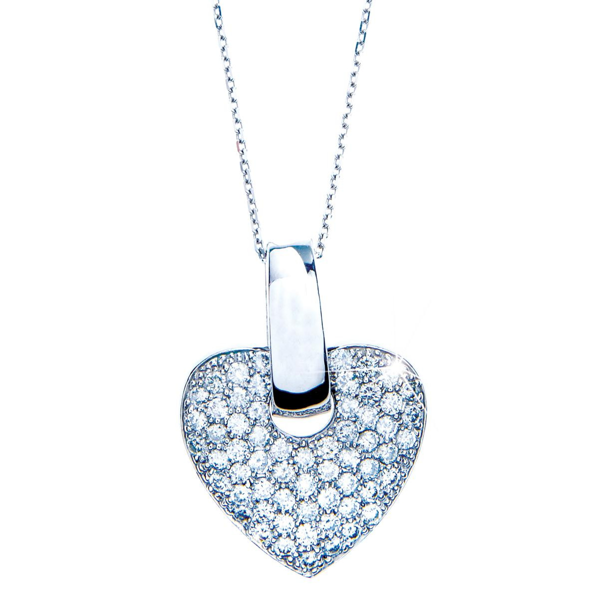 1.52 CTW Diamond Heart Pendant