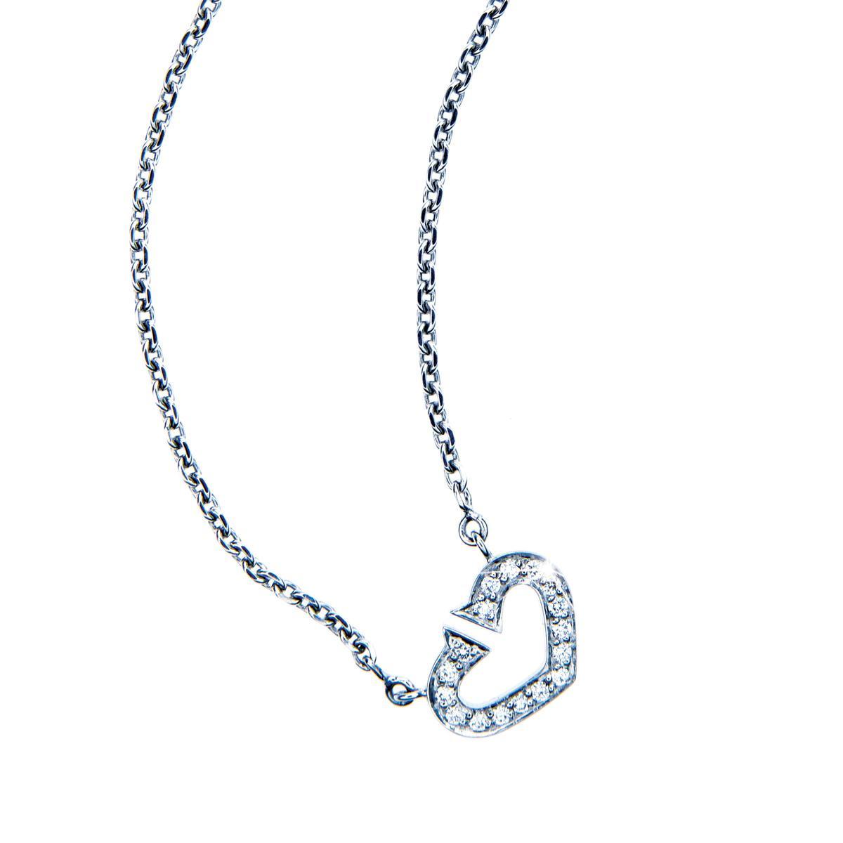 Vintage Hearts of Cartier Diamond Necklace