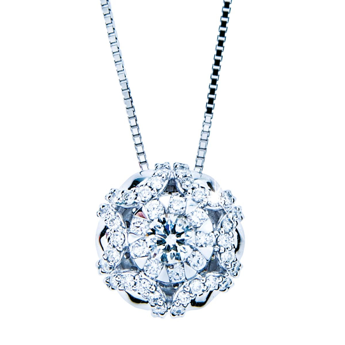 Mémoire® 0.75 CTW Diamond Bouquet Snowflake Pendant
