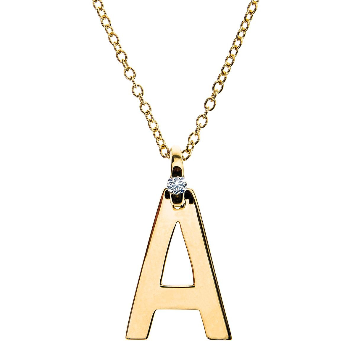 "New Hearts On Fire® ""A"" Inital Pendant"