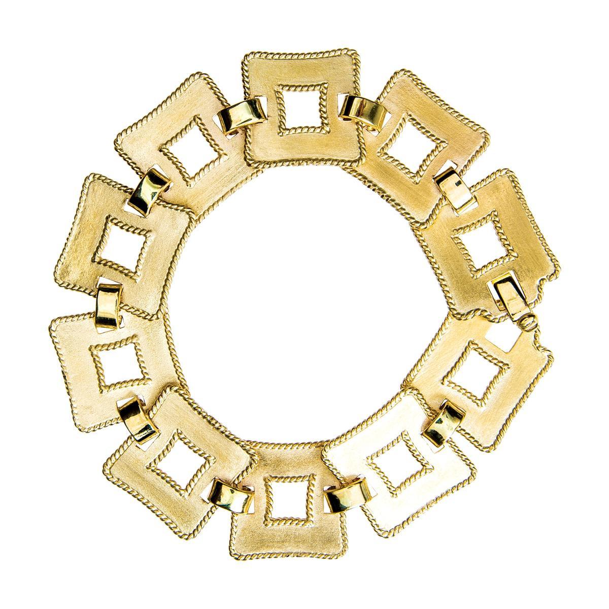Retro James Avery Square Link Bracelet