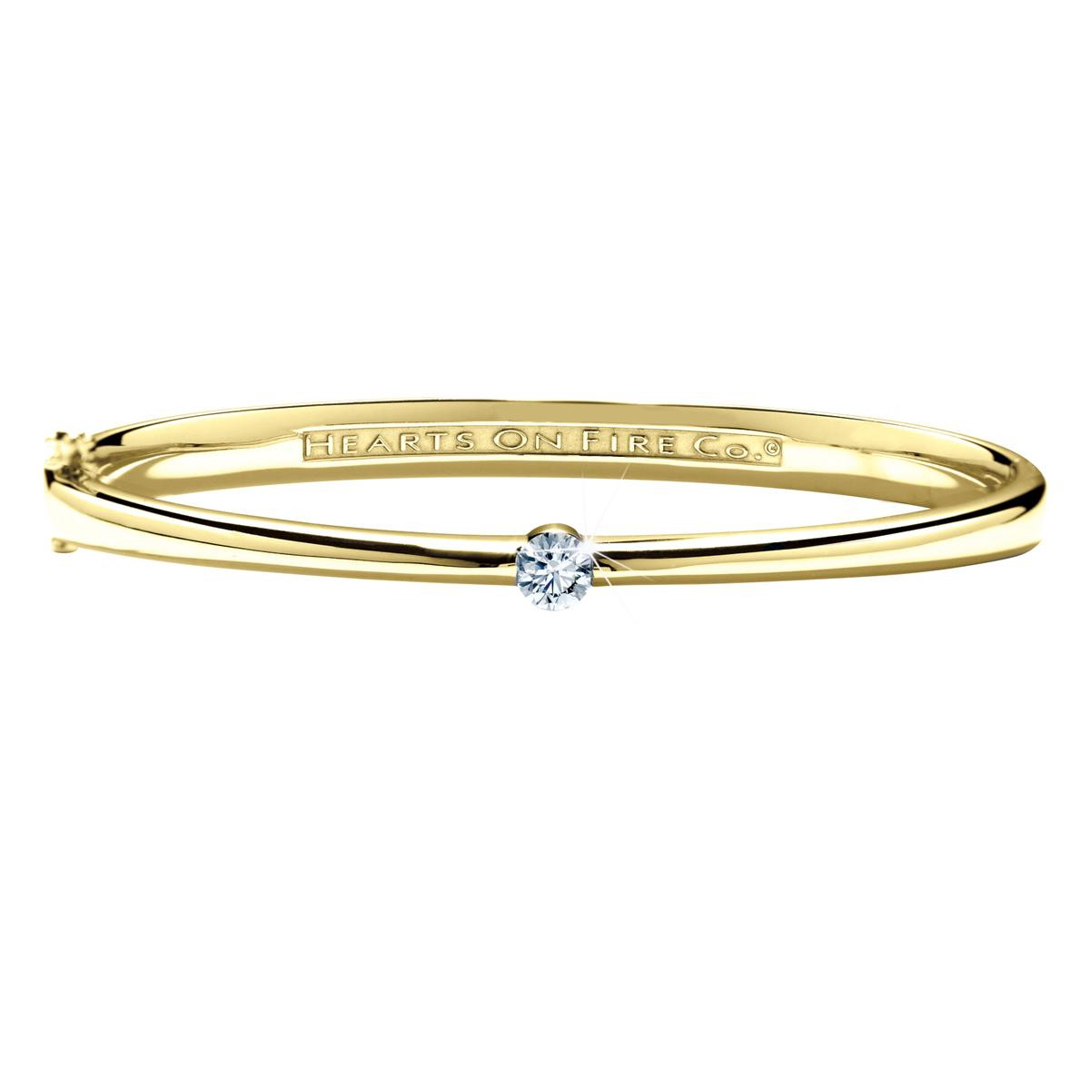 Vintage Hearts On Fire® 0.40 CT Diamond Solitude Bangle