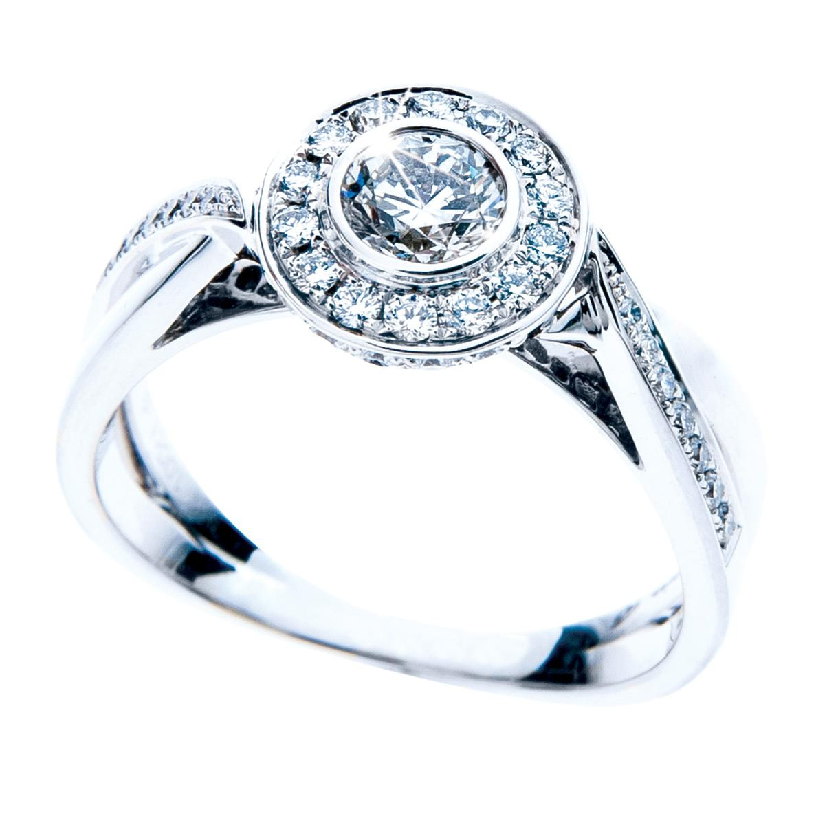 New Mémoire® 1.00 CTW Diamond Halo Engagement Ring