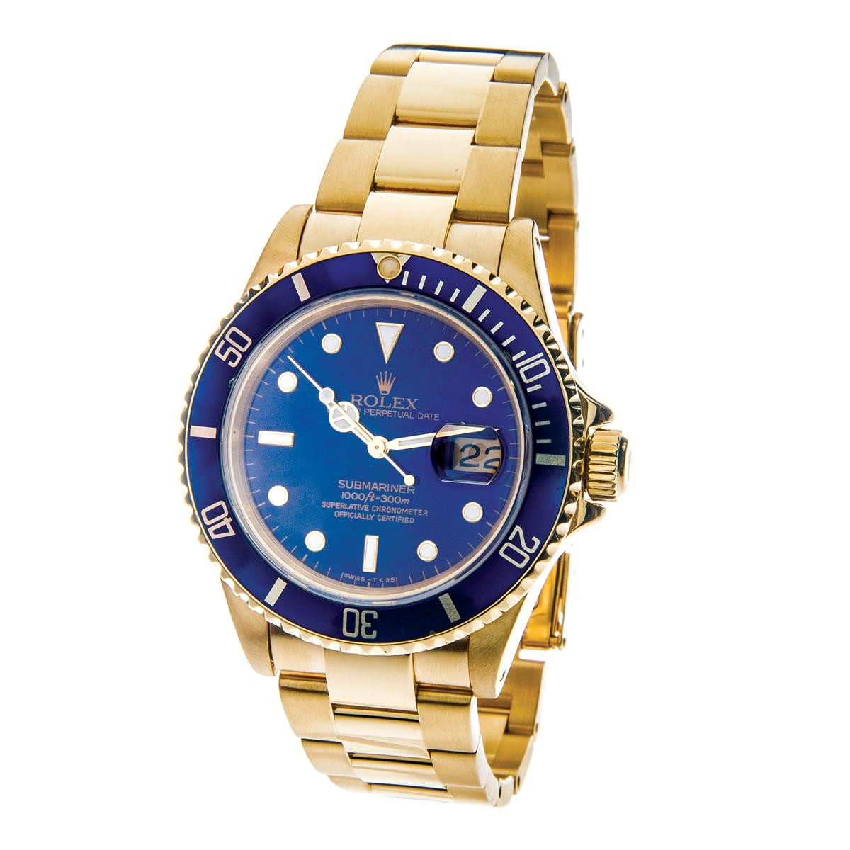 Pre-Owned Gold Rolex Submariner