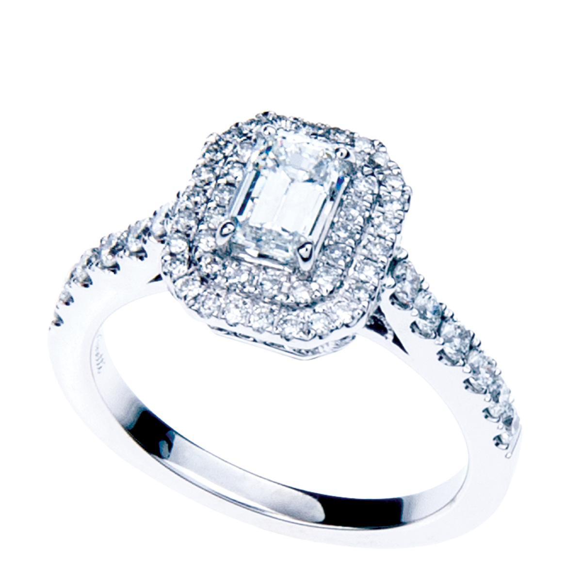 New Venetti 1.33 CTW Double Halo Diamond Engagement Ring