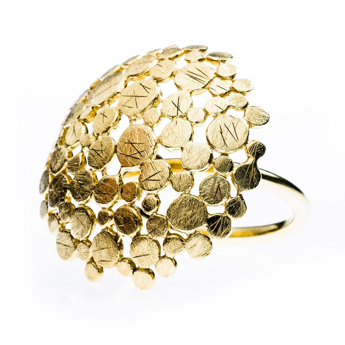 Vintage 18K Textured Dots Ring