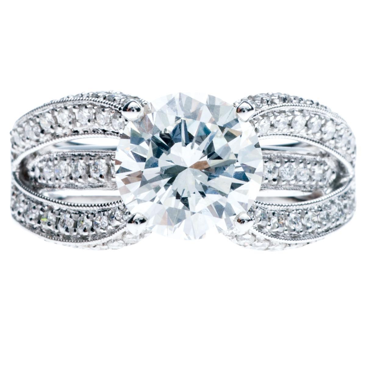 New 3.21 CTW Diamond Venetti Engagement Ring