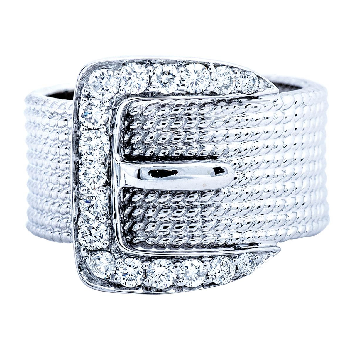 Vintage Buckle Ring with 0.50 CTW Diamonds