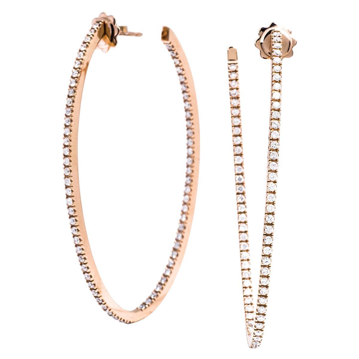 New Mémoire® 1.33 CTW Diamond Oval Hoops