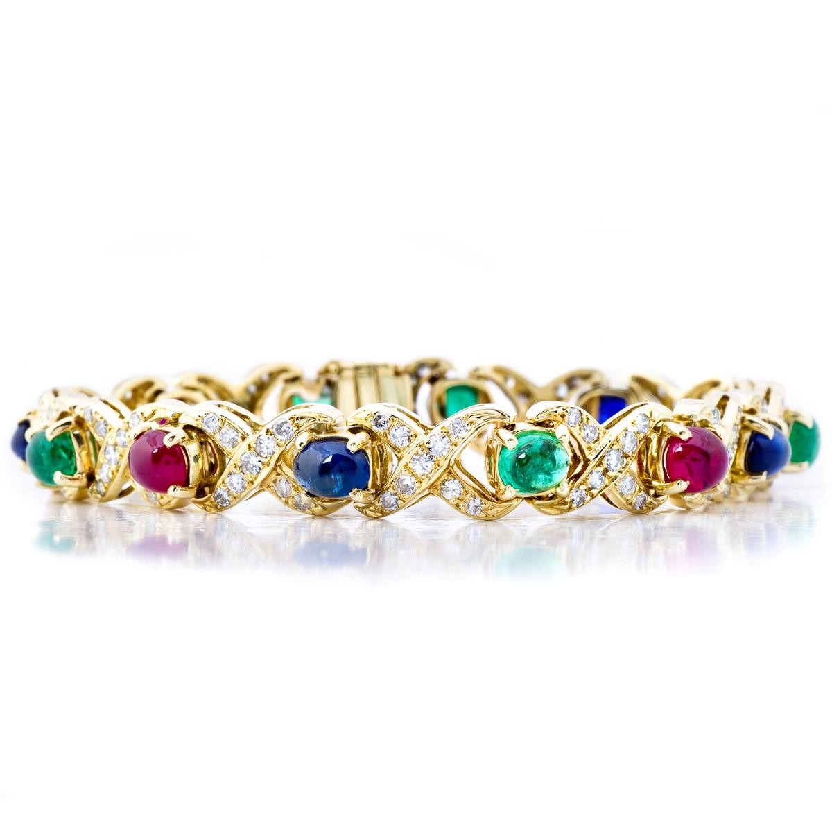 ruby s rare emerald wilke jewelry diamond yg sapphire hammerman bros estate bracelet item