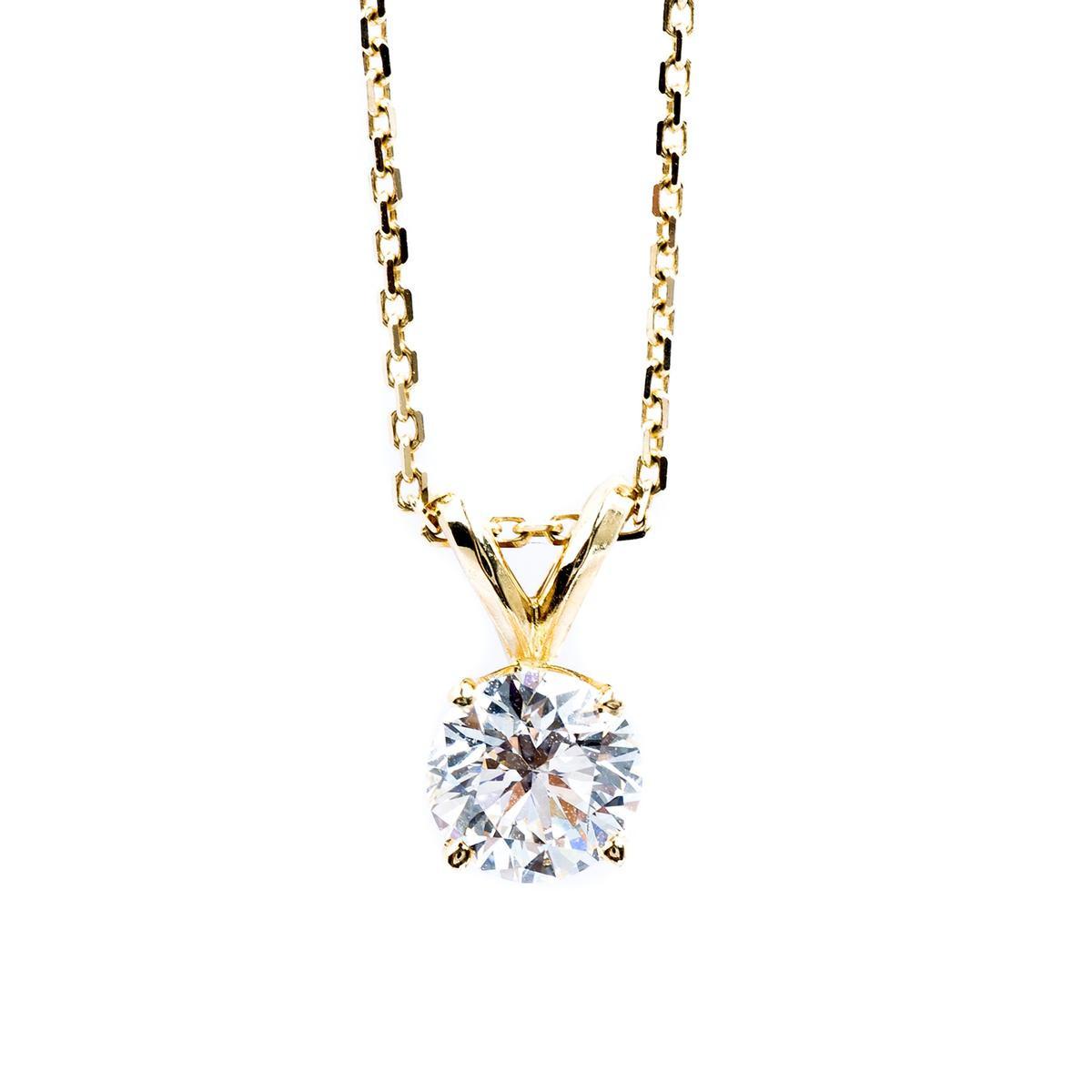 Vintage 0.71 Carat Diamond Pendant