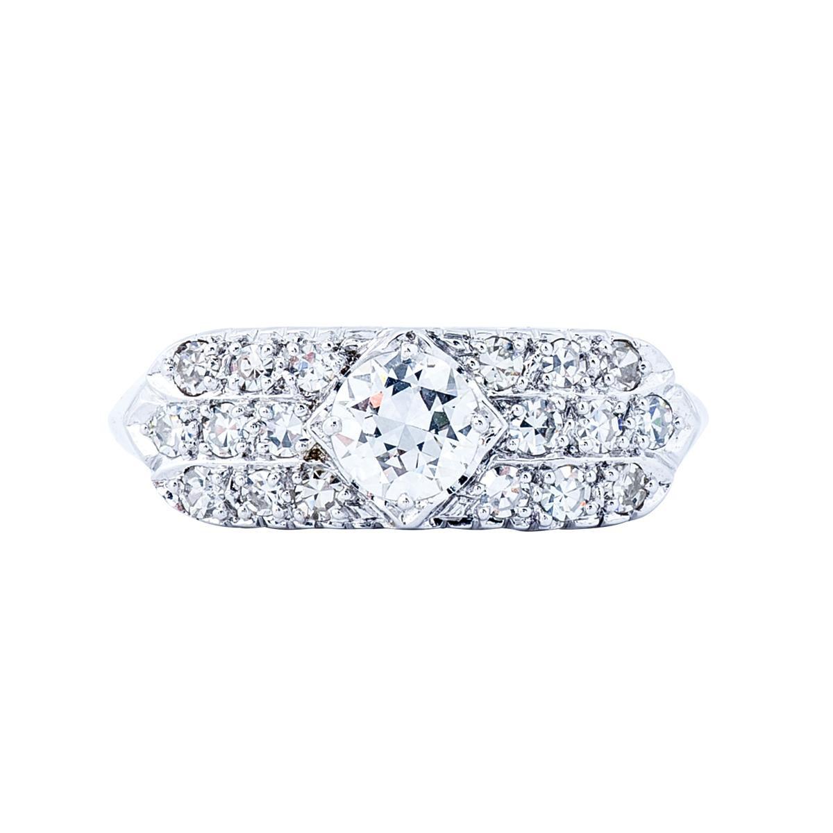 Vintage Ring with 0.73 CTW Diamonds
