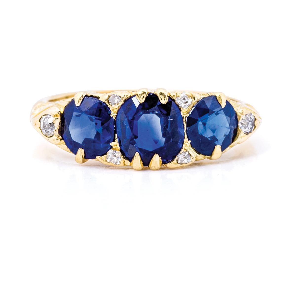 Antique Victorian 2.44 CTW Sapphire Ring