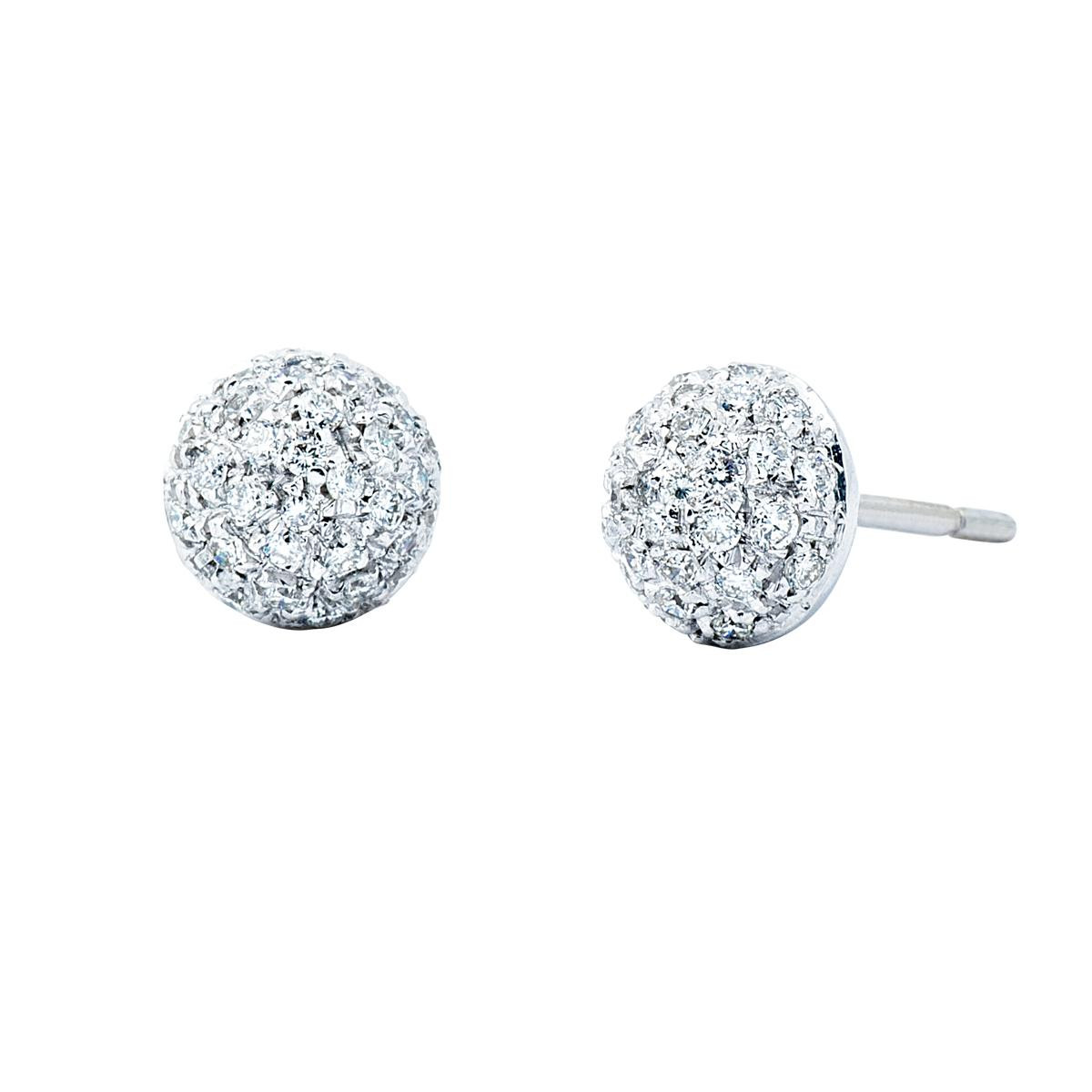 Vintage 0.60 CTW Diamond Button Studs