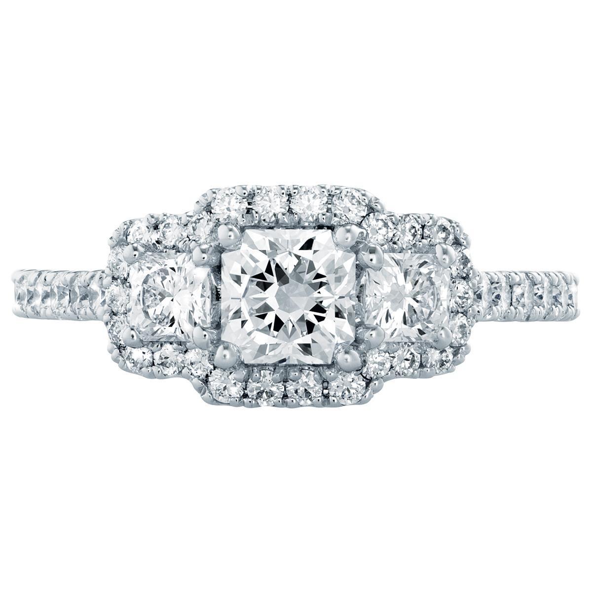 Hearts On Fire® Platinum 1.26 CTW Diamond Transcend Dream Engagement Ring