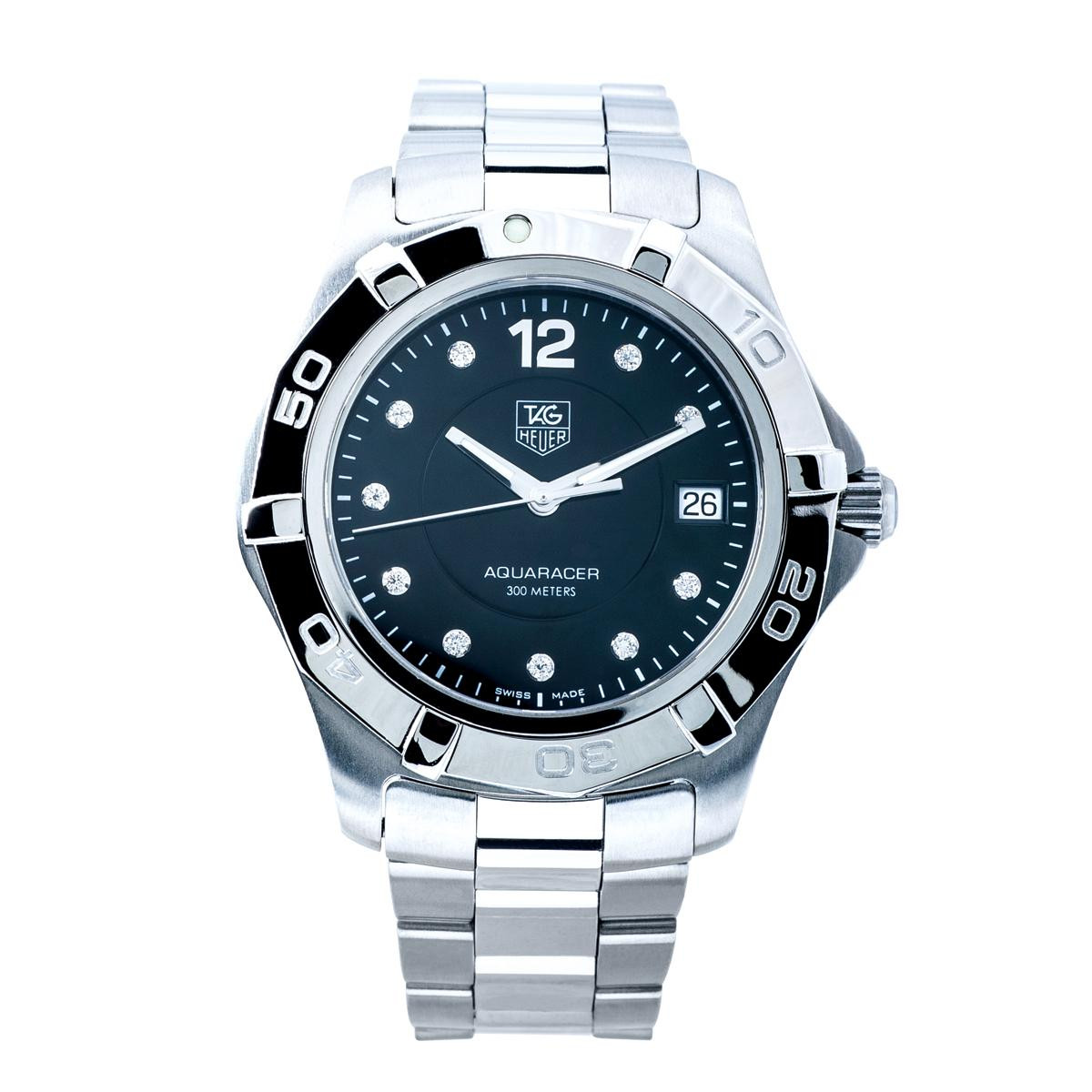 Preowned Tag Heuer Aquaracer with Diamond Dial
