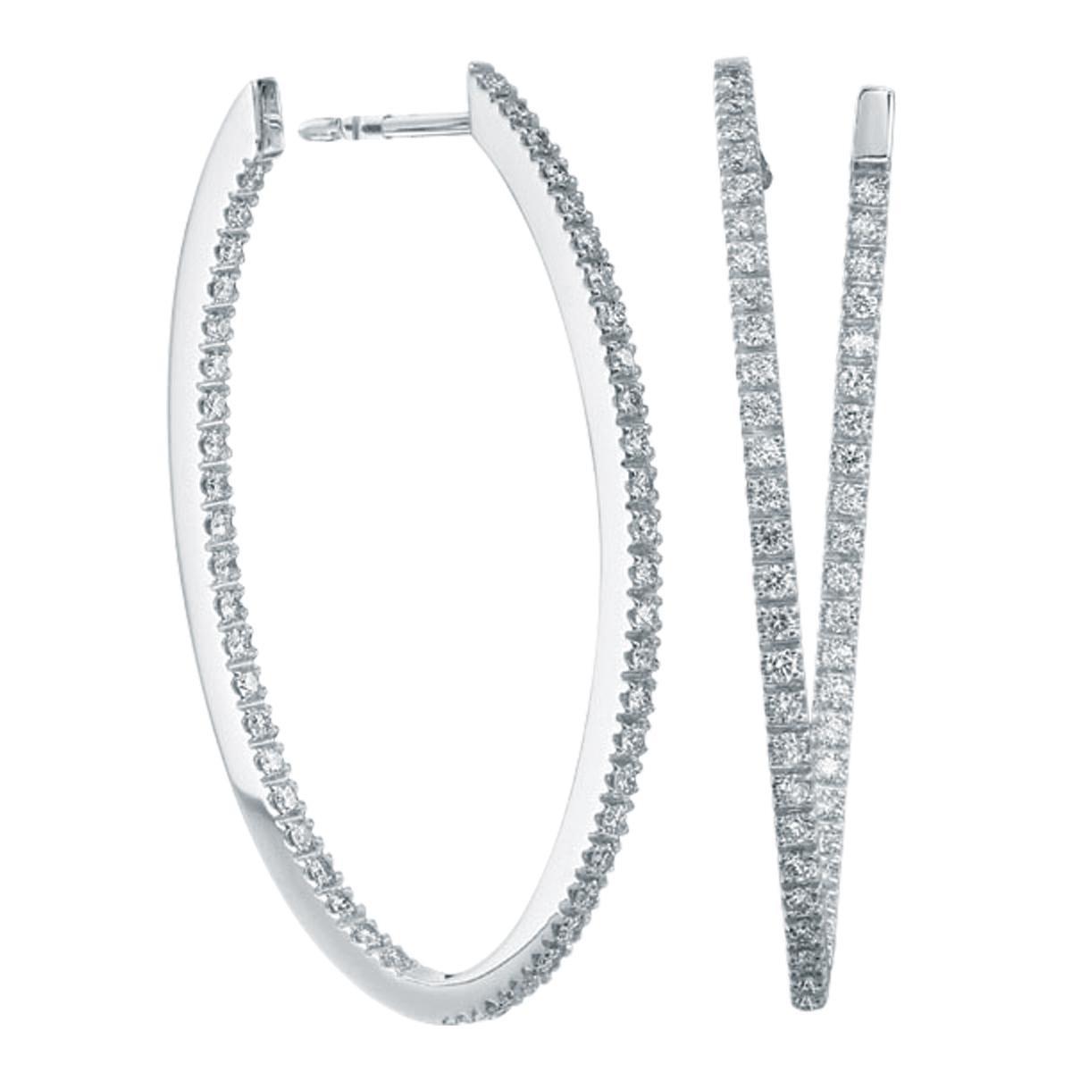 New Mémoire® 1.00 CTW Diamond Hoops