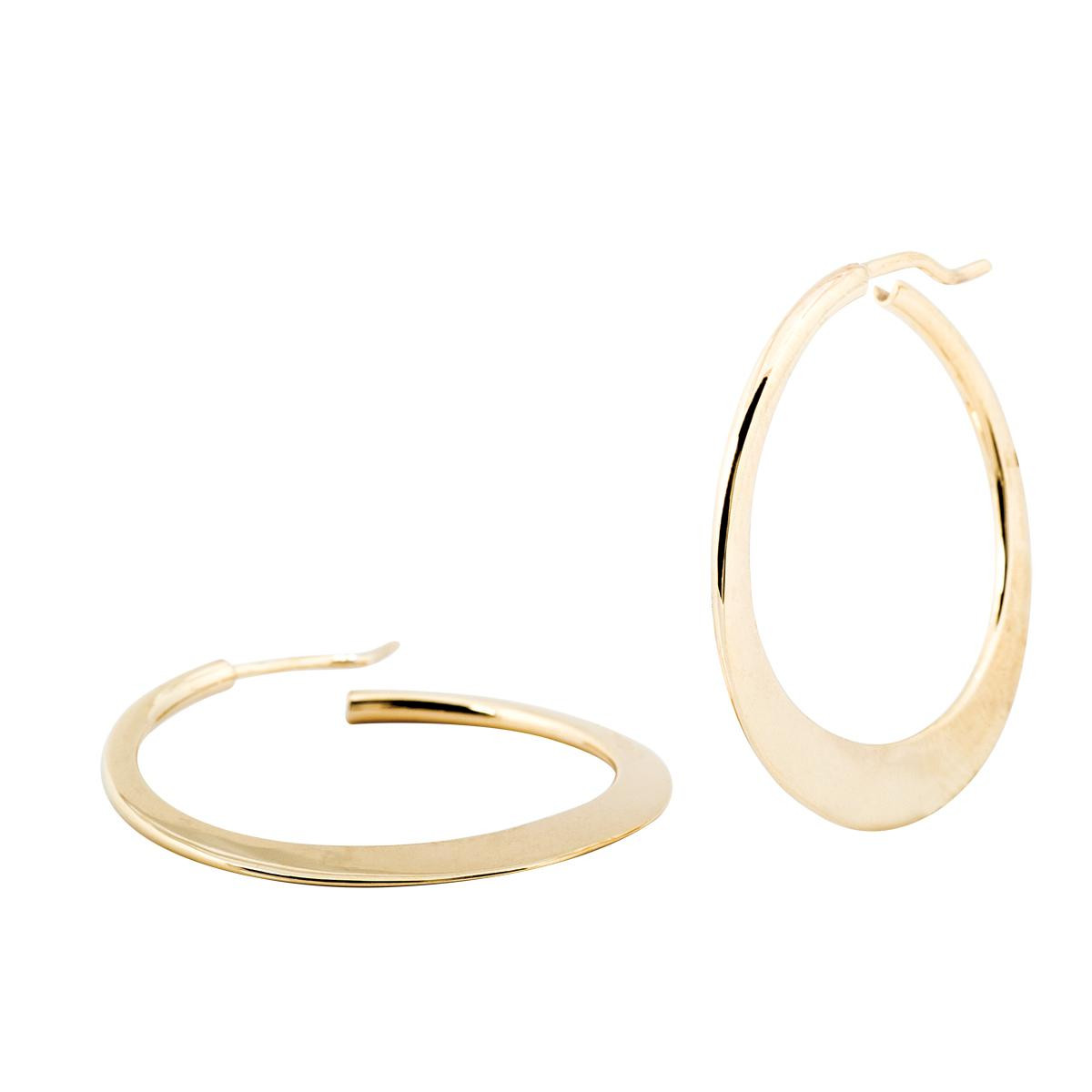 Vintage 14K Crescent Shaped Hoops