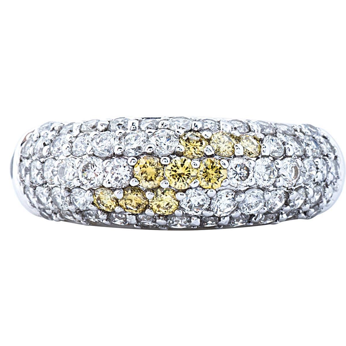 Vintage 1.15 CTW Diamond Pave Domed Ring