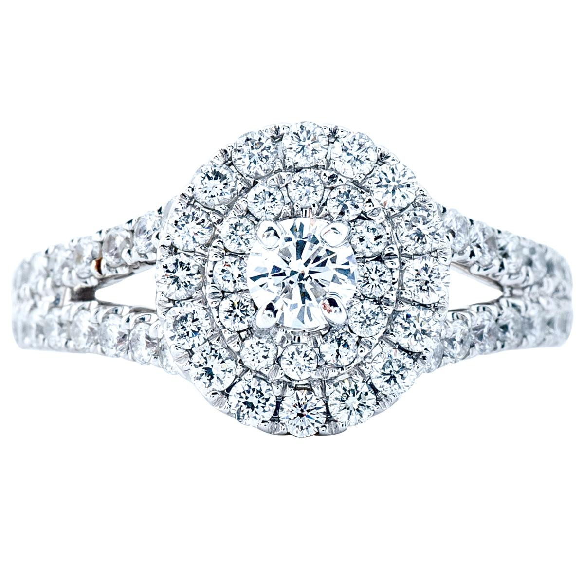 New 1.21 CTW Venetti Diamond Halo Engagement Ring