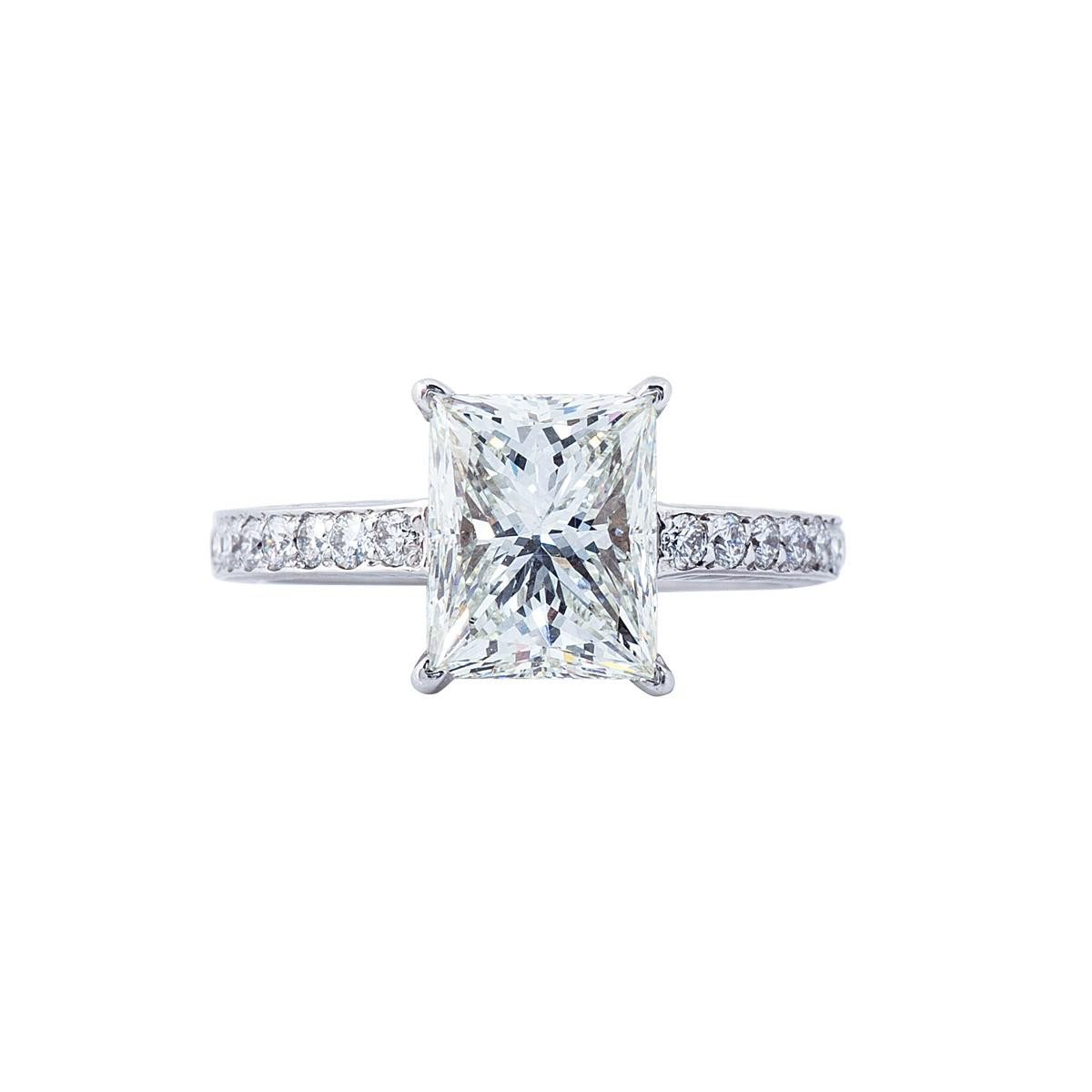 Vintage 3.31 CT Princess Cut Engagement Ring