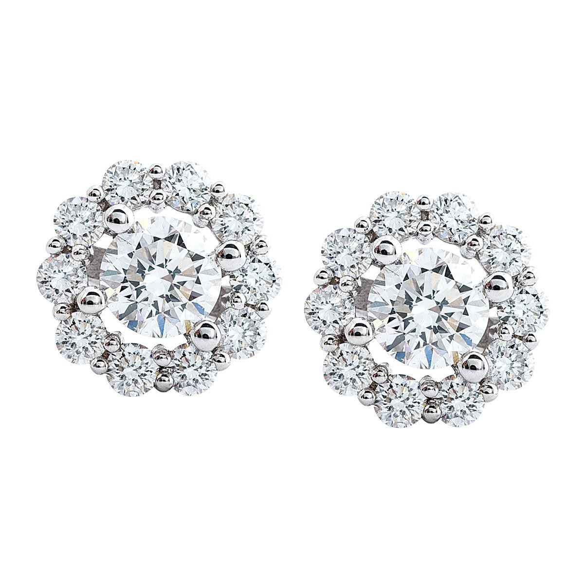Mémoire®® 0.85 CTW Diamond Blossom Earrings
