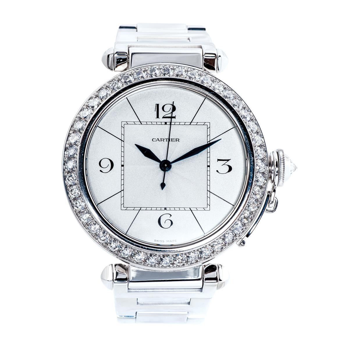 Preowned Cartier 18k White Gold Pasha