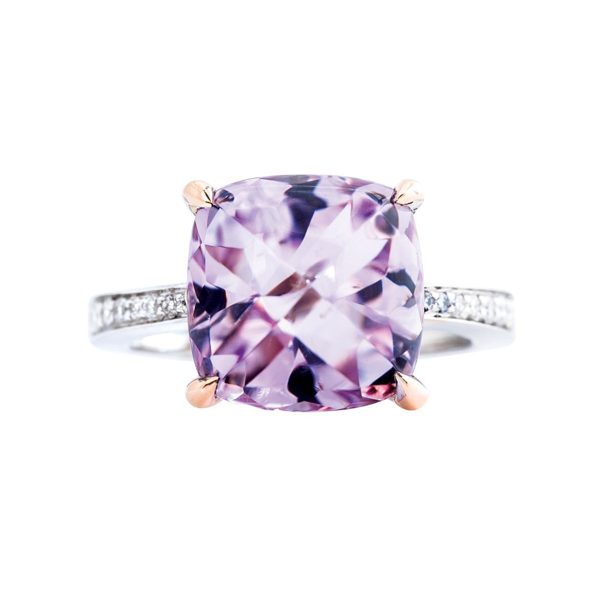 Vintage Frederic Sage 9.47 CT Rose Quartz Ring
