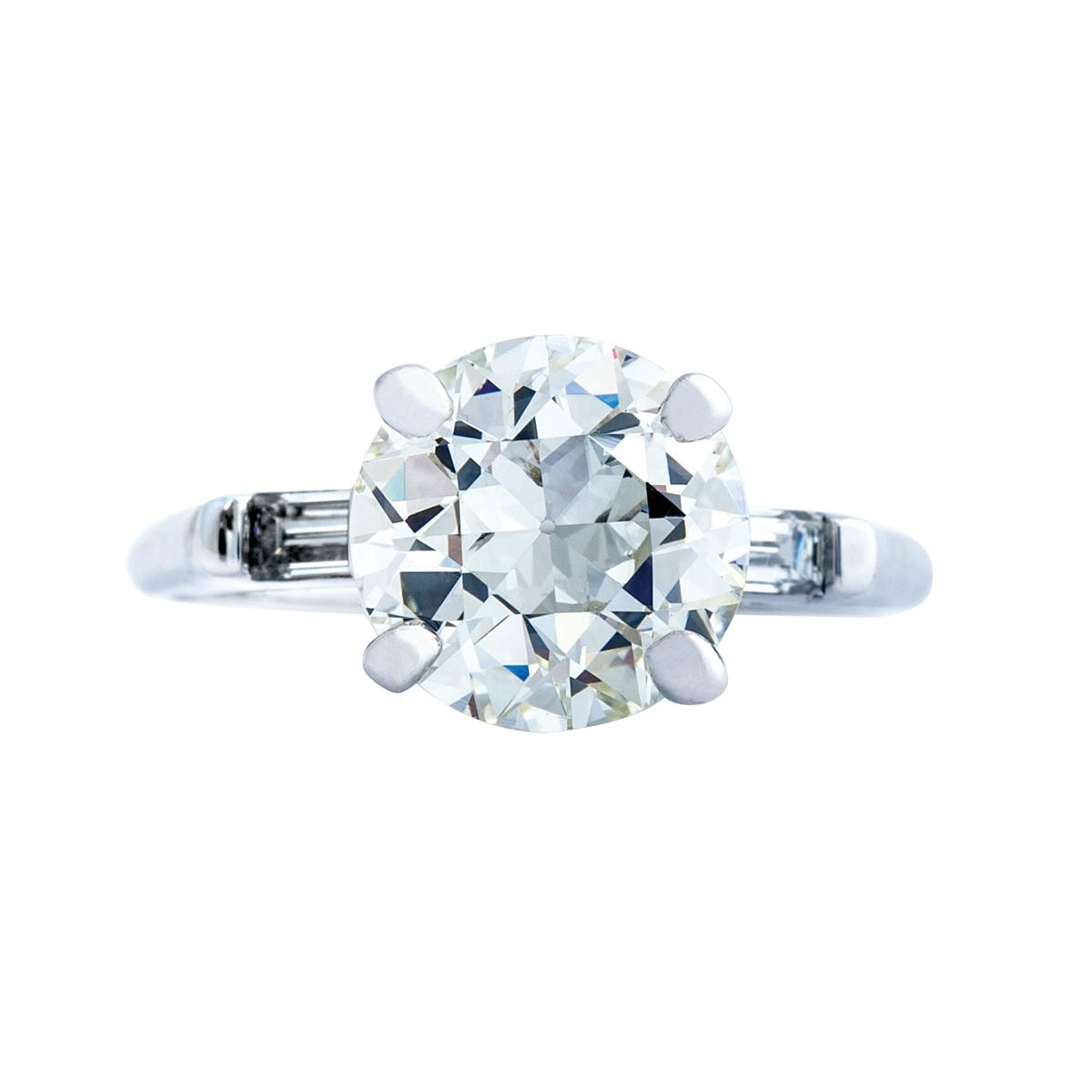 Vintage 2.34 CTW Old European Cut Diamond Ring