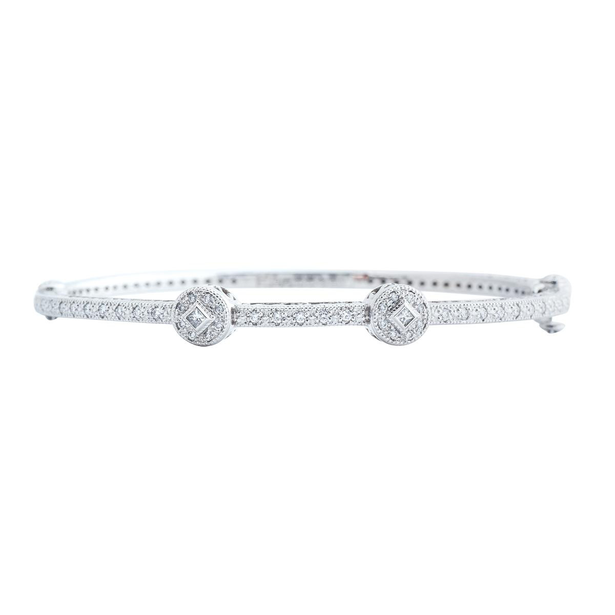 Vintage Charriol 0.40 CTW Diamond Bangle