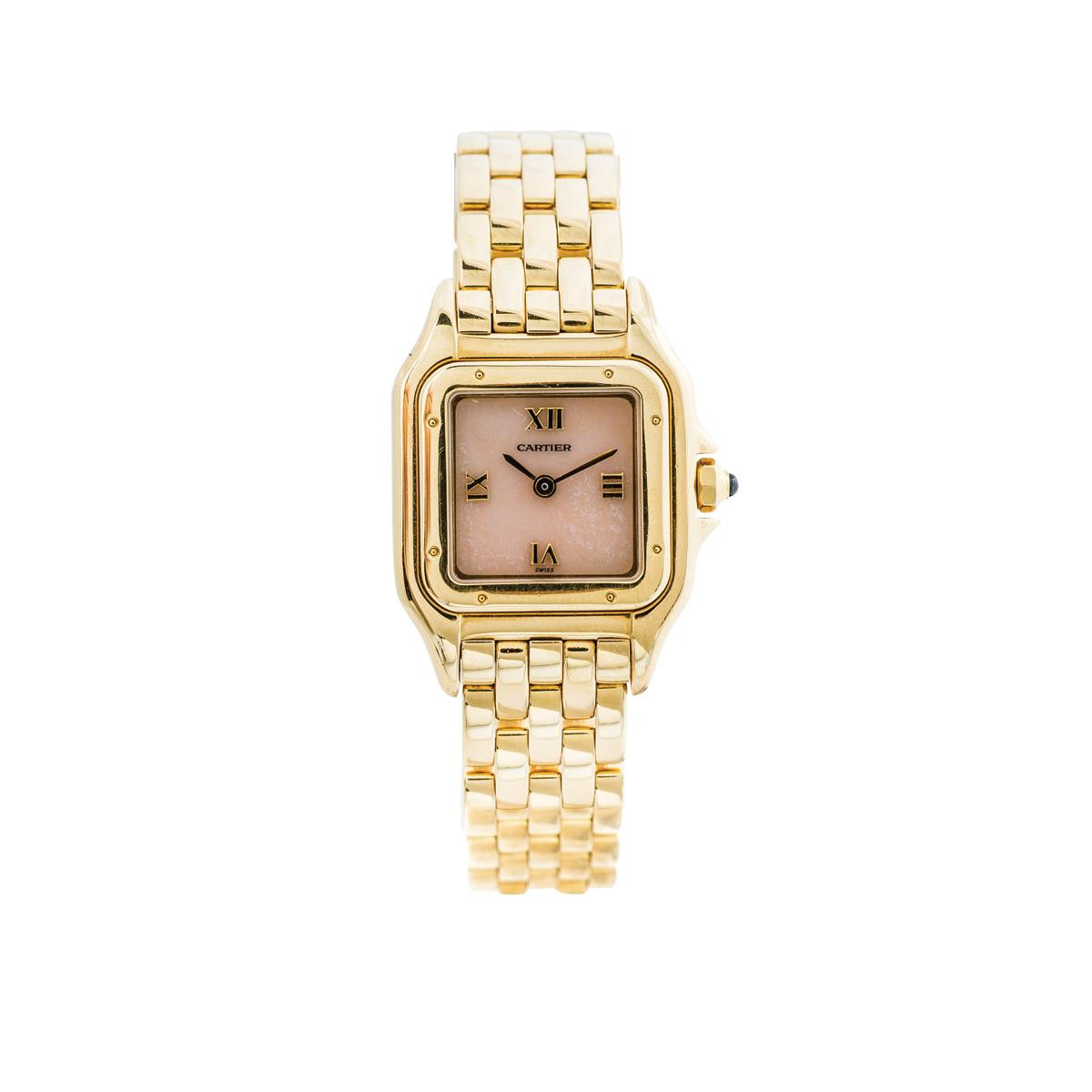Preowned 18K Gold Women's Pink Cartier Panther