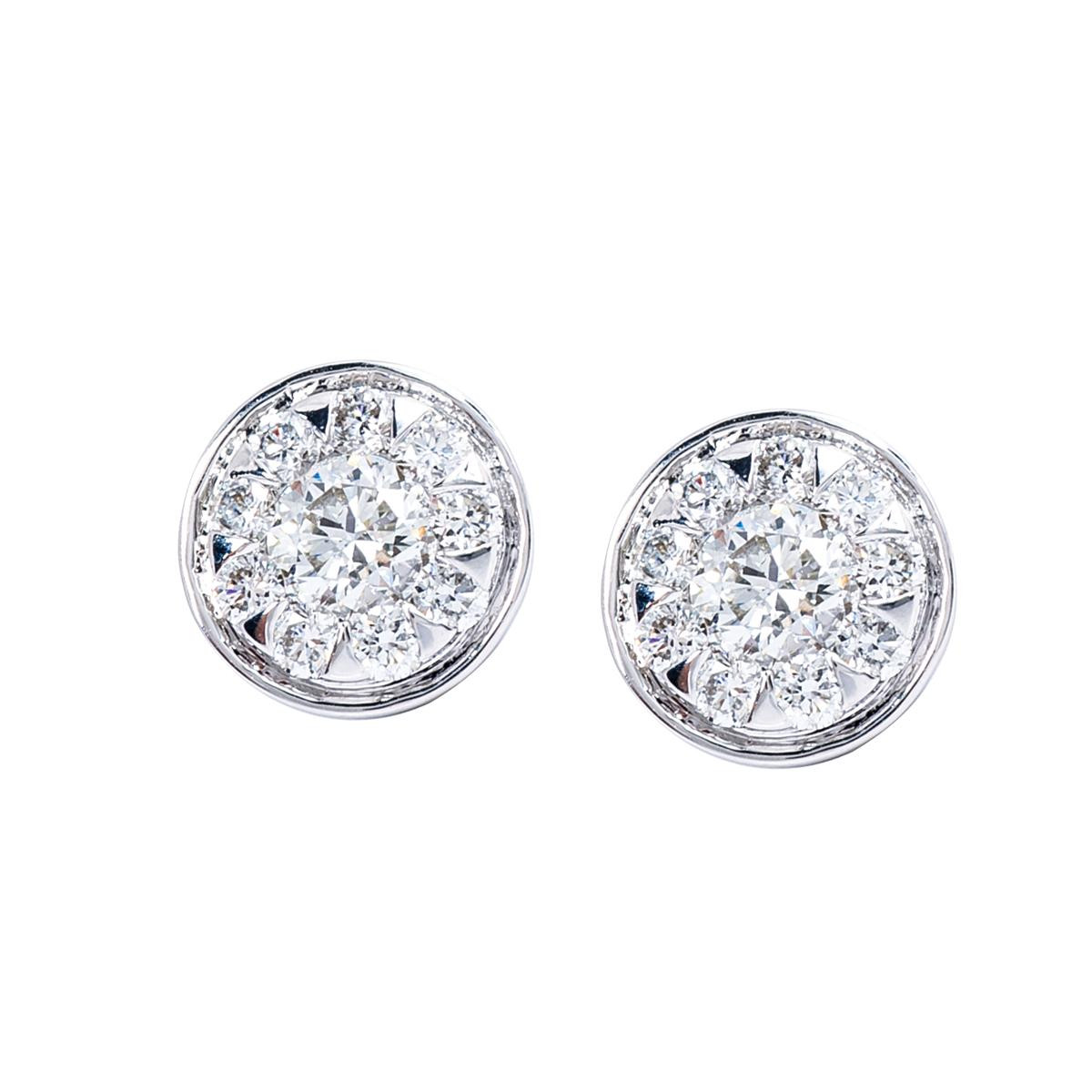 Mémoire®® 0.80 CTW Diamond Bouquet Earrings