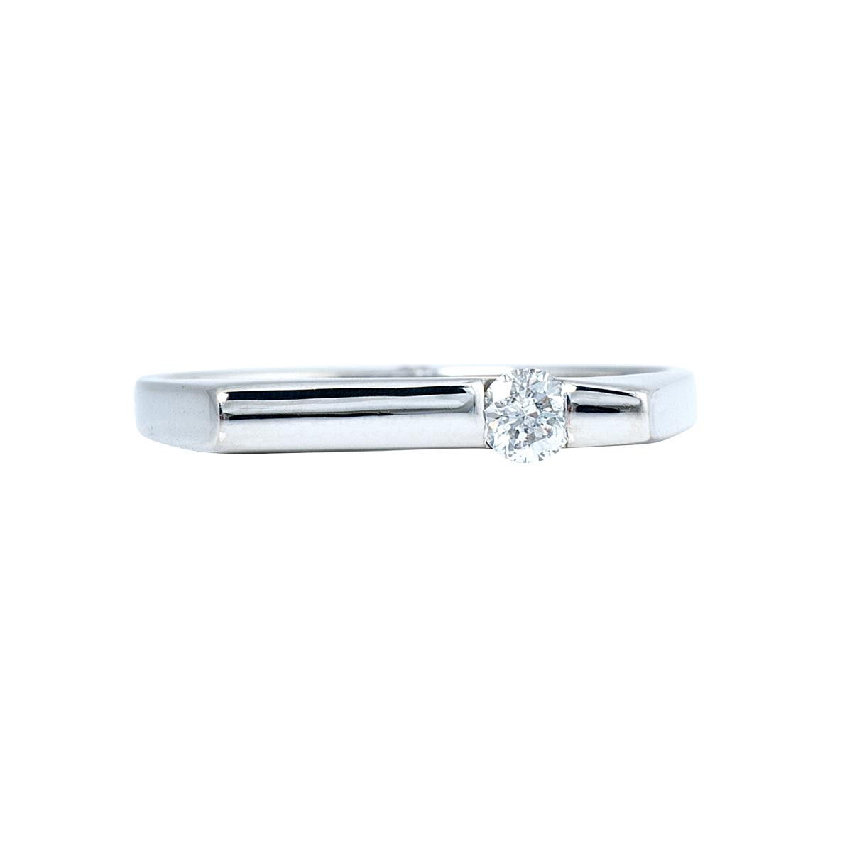 Vintage 0.10 CT Diamond Channel Bar Ring