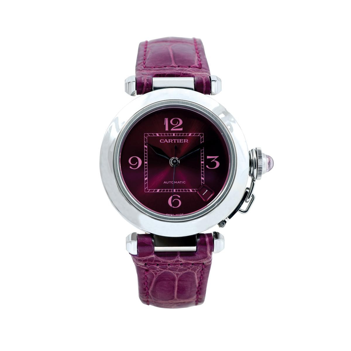 Preowned Woman's Purple Cartier Pasha