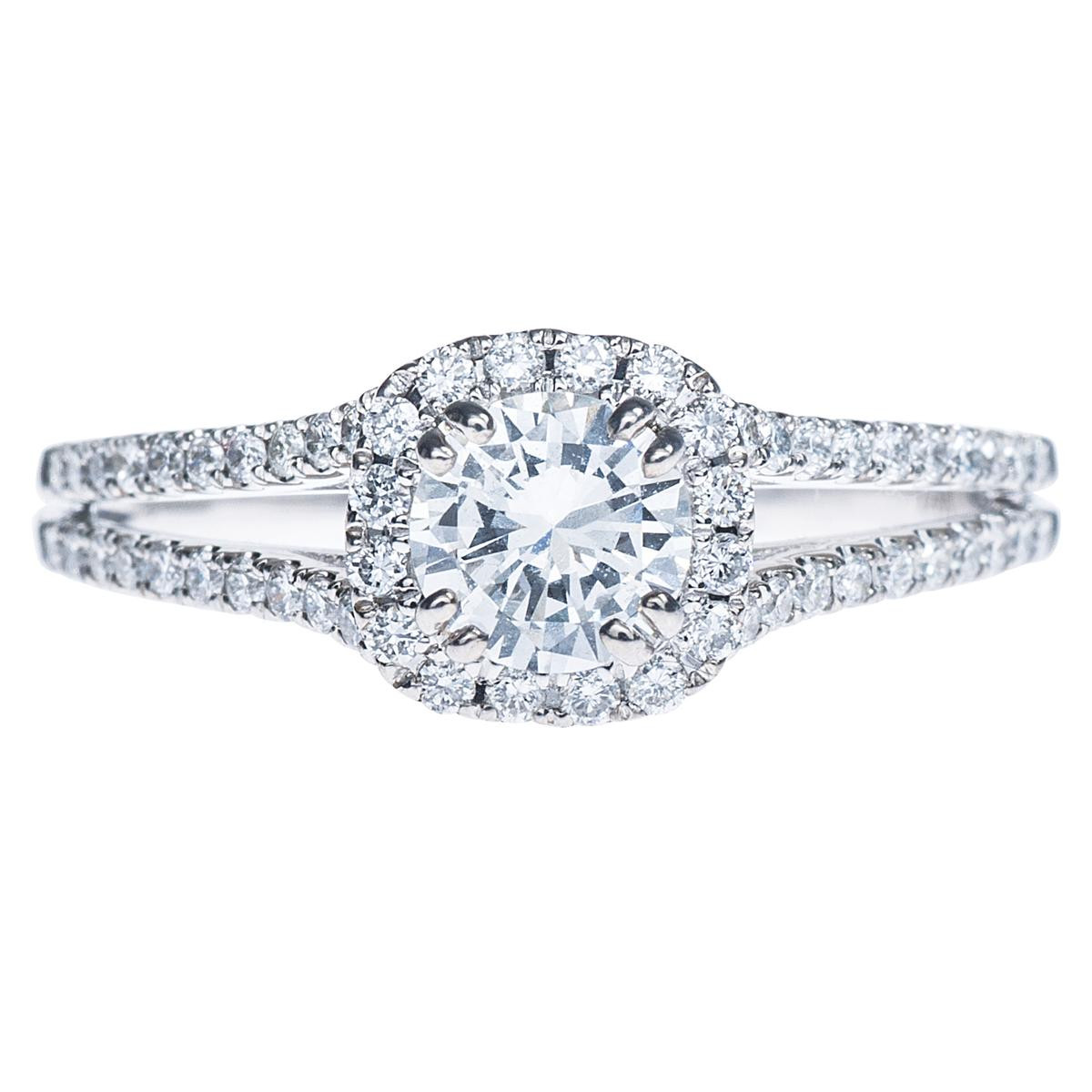 Venetti 0.85 CTW Halo Diamond Engagement Ring