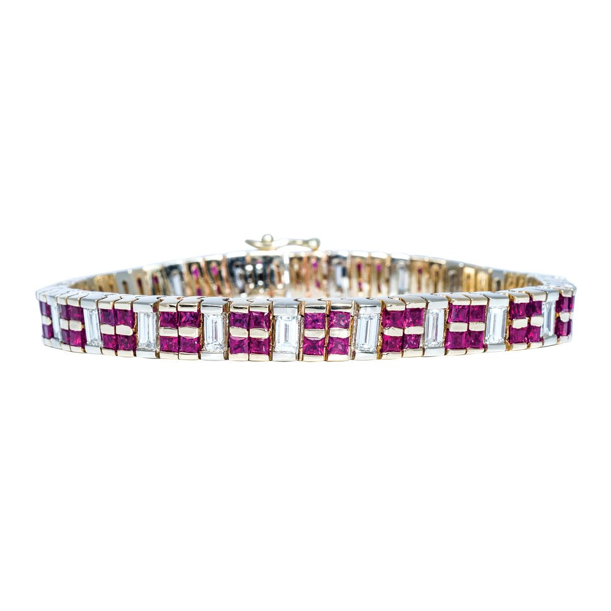 Vintage 10.00 CTW Diamond & Ruby Bracelet