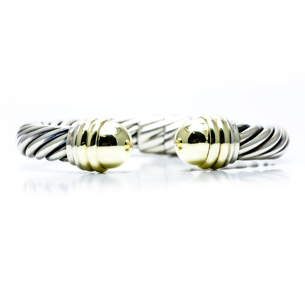 Vintage david yurman 14k sterling cable cuff bracelet for David yurman like bracelets
