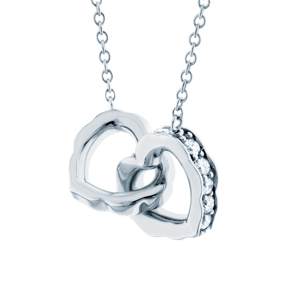 New Hearts On Fire® Lorelei Interlocking Heart Necklace