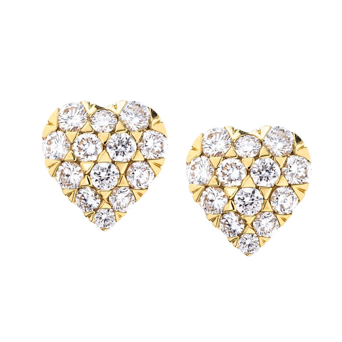 Mémoire® 0.60 CTW Diamond Heart Shaped Earrings