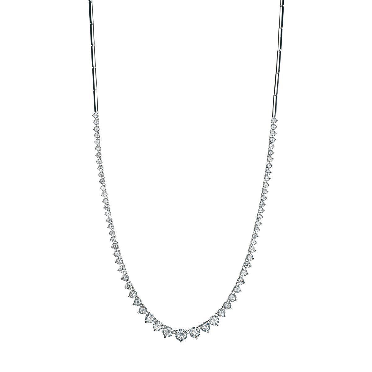 New 4.51 CTW Diamond Tennis Necklace