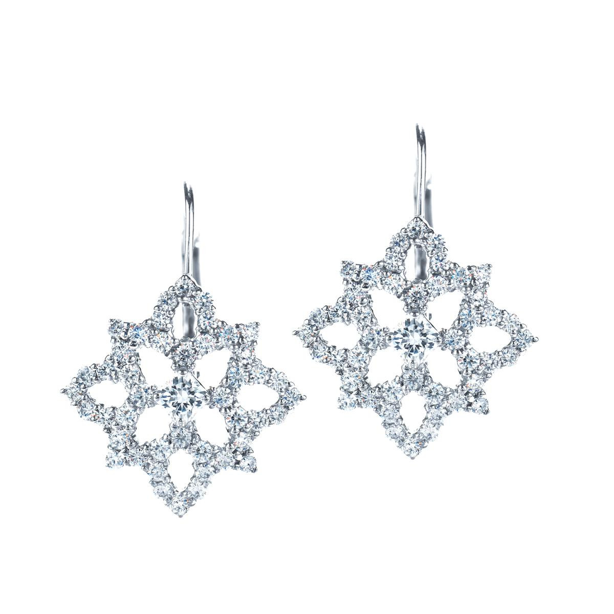 New Hearts On Fire® 1.20 CTW Mythical Snowflake Earrings