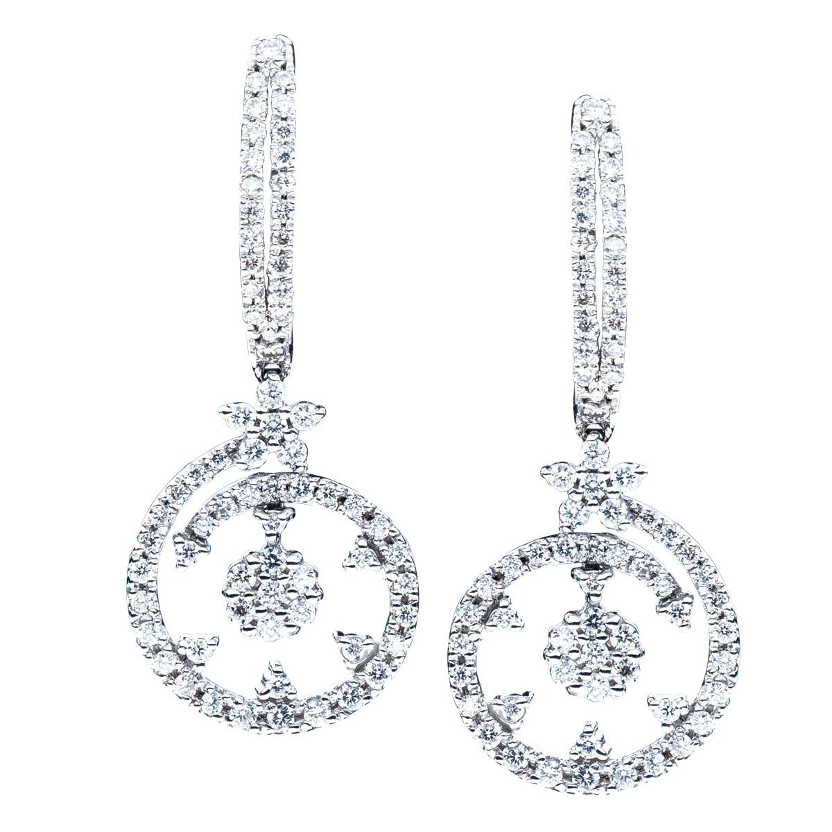 Vintage 1.08 CTW Diamond Roberto Coin Earrings