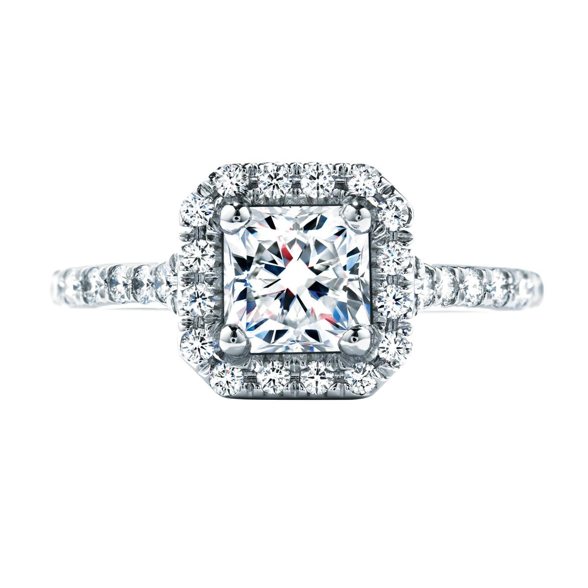 Hearts On Fire® 0.93 CTW  Diamond Transcend Engagement