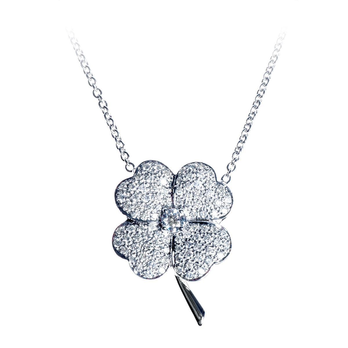 New 1.36 CTW Diamond Clover Pendant