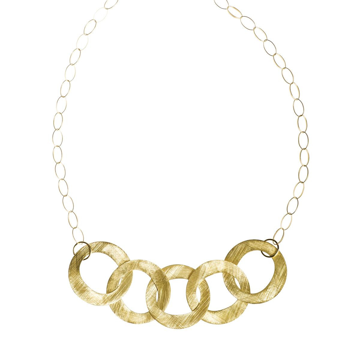 Vintage 18k Gold Interlocking Necklace