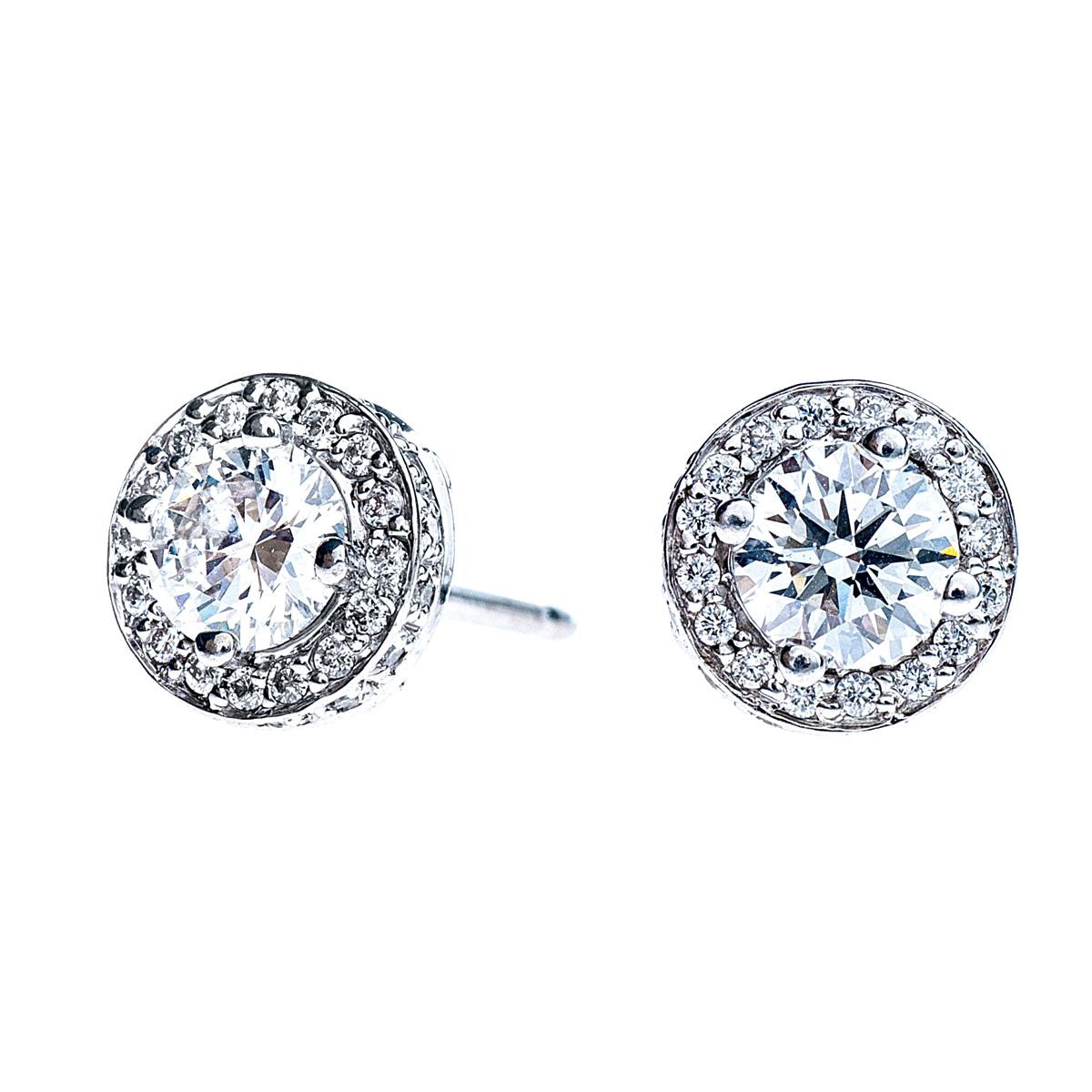 1.70 CTW Diamond Earrings